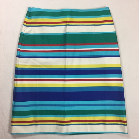 af8eb7d83a Talbots Skirts | Nwt Striped Pencil Skirt Size 2 Petite | Poshmark